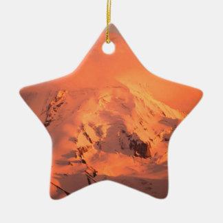 Park Hood At Sunset Oregon Christmas Tree Ornament