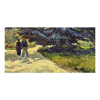 Park In Arles By Vincent Van Gogh Custom Photo Card