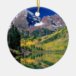 Park Maroon Bells White River Forest Colorado Ceramic Ornament