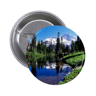 Park Mirror Lake Rainier Buttons