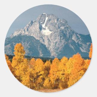 Park Moran In Autumn Wyoming Stickers
