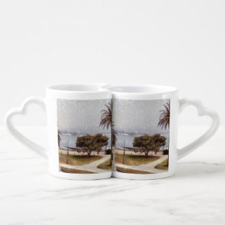 Park on waterfront in Melbourne Lovers Mugs