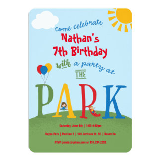 Park Party - primary colors Card