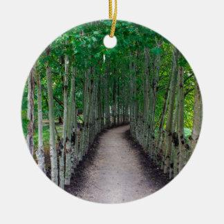 Park Path Ceramic Ornament