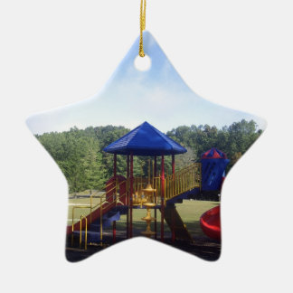 Park Playground Ceramic Ornament