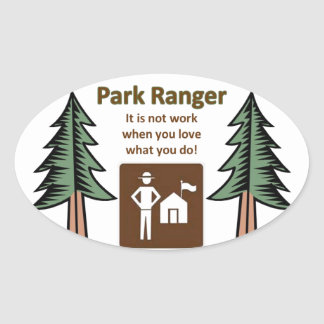 Park Ranger Oval Sticker