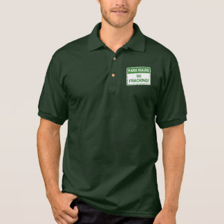 Park Rules - No Fracking Polo Shirt