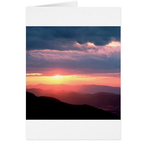 Park Shenandoah Virginia Sun Break Greeting Cards