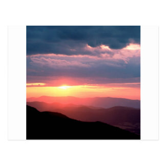 Park Shenandoah Virginia Sun Break Postcard