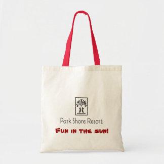 Park Shore Logo PSR - Black.ai, Fun in the sun! Budget Tote Bag
