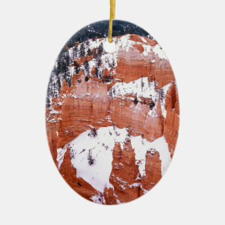 Park Snowy Bryce Canyon Utah Ceramic Ornament