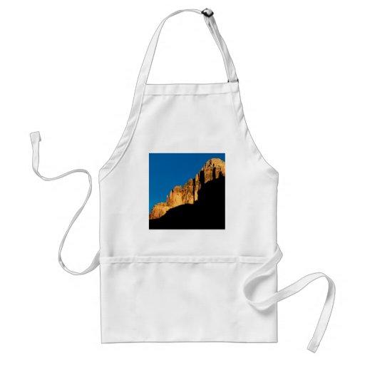Park Sunset Light On Canyon Wall Grand Canyon Aprons