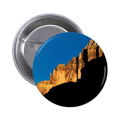 Park Sunset Light On Canyon Wall Grand Canyon Pinback Buttons
