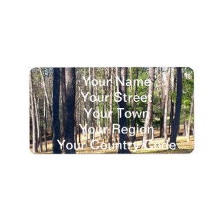 Park Trees Address Label