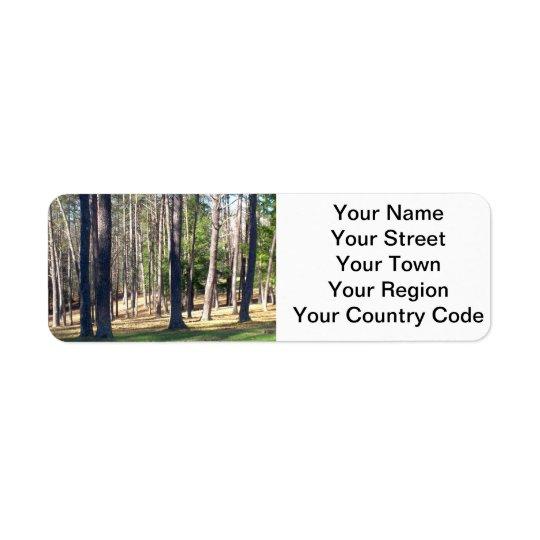 Park Trees Return Address Label