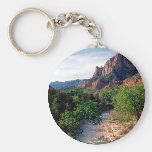 Park Virgin River The Watchman Zion Utah Key Chains