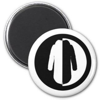 Parka Power is a cool retro mod motif 6 Cm Round Magnet