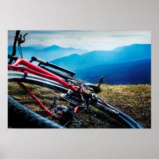 Parked Bike Overlooking Vista Print