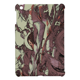 Parked motorcycles iPad mini cases