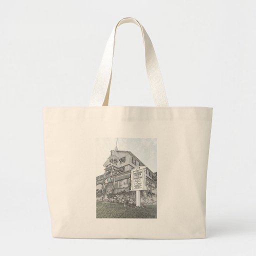 Parker House Sketch - Jersey Shore Tote Bags