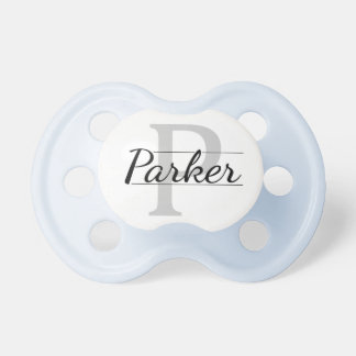 """""""Parker"""" Personalized Name Initial Baby Pacifier"""