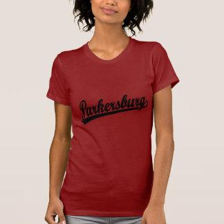 Parkersburg script logo in black t-shirts