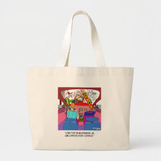 Parking Cartoon 8849 Large Tote Bag
