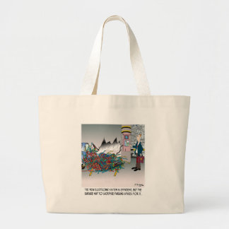 Parking Cartoon 8973 Large Tote Bag