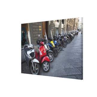 Parking is extremelly hard to find, Scooters are Gallery Wrap Canvas