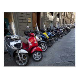 Parking is extremelly hard to find, Scooters are Postcard
