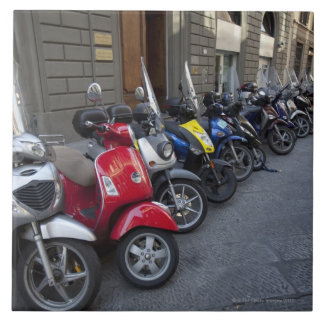 Parking is extremelly hard to find, Scooters are Large Square Tile