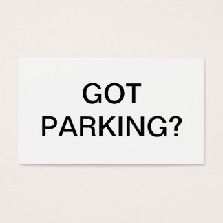 Parking issue