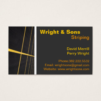 Parking lot Striping maintenance Business Cards