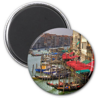 Parking Spaces (Venice Style) 6 Cm Round Magnet