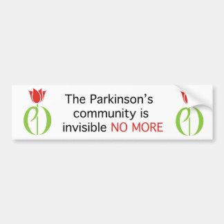 parkinson's disease, parkinsons disease, tulip, pd bumper sticker
