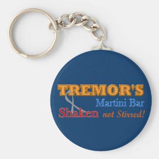 Parkinson's Tremor's Martini Bar Shaken Design Basic Round Button Key Ring