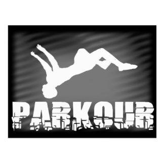 Parkour athlete postcard