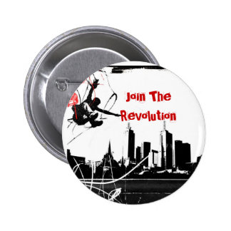 parkour, Join The Revolution 6 Cm Round Badge
