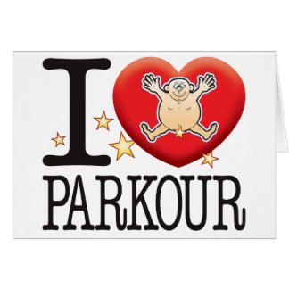 Parkour Love Man Card