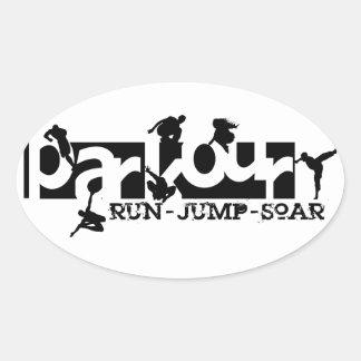 Parkour Oval Sticker