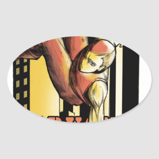 parkour oval sticker