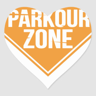Parkour Runaway Extreme Sports Stunt Free Running Heart Sticker