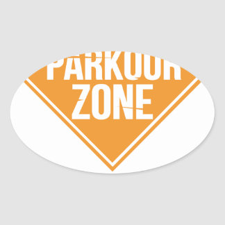 Parkour Runaway Extreme Sports Stunt Free Running Oval Sticker