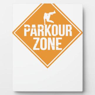Parkour Runaway Extreme Sports Stunt Free Running Plaque