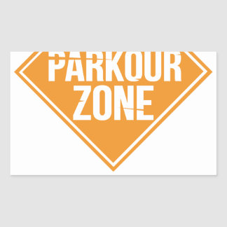 Parkour Runaway Extreme Sports Stunt Free Running Rectangular Sticker