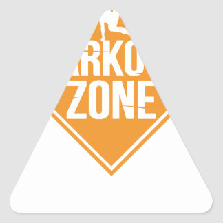 Parkour Runaway Extreme Sports Stunt Free Running Triangle Sticker