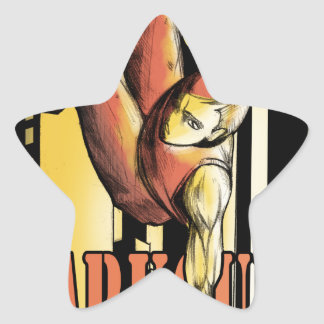 parkour star sticker