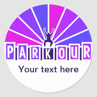 PARKOUR stickers, customize Classic Round Sticker