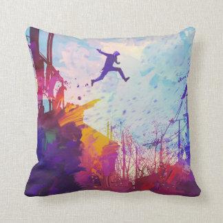 Parkour Urban Free Running Free-styling Modern Art Cushion