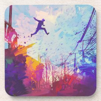 Parkour Urban Free Running Freestyling Modern Art Coaster